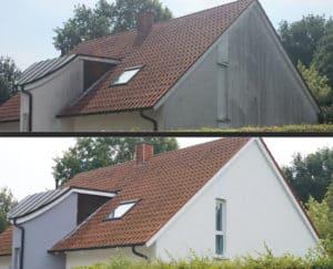 Haus-vorher-nachher-Rotalgen